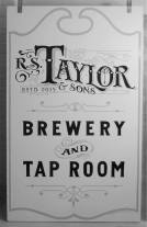 Taylor Brewery hand painted wood sign